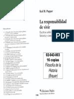 02043003 Popper - Acerca de La Historiografía y El Sentido de La Historia