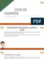 Coordinación del trazado en planta y perfil