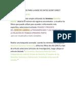 Base de Datos Scient Direct Ejercicios