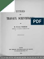 Rabaud-Titres Et Travaux Scientifiques