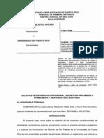 Injunction Provisional y Permanente vs Administración UPR