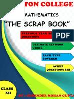 Xii Maths Scrap Book