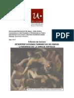Informe de Lectura - Interpretaciones Feministas en Obras Literarias de La Grecia Antigua - Martiniau Maximiliano