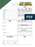 Base Raiders Character Sheet Fillable