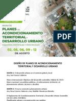 planes de acondicionamiento territorial
