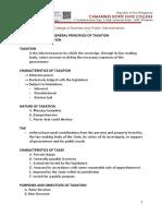 Tax General Principles Handout