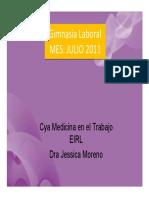 Gimnasia Laboral v Parte ULE-JuLio 2011