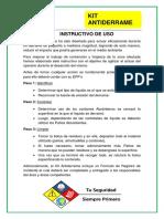 Instructivo Kit Antiderrame SERCIA