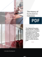 The History of Curriculum in Indonesia