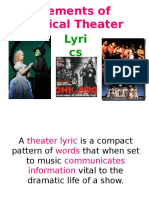 Elements of Musical Theater-Lyrics.ppt