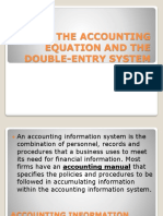 Chapter 2 the Accounting Equation and the Double-Entry System