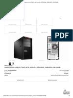 Workstation Lenovo P520C, Intel Xeon W-2125 4.0GHz, 16GB DDR4, SSD 256GB