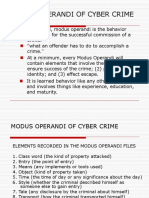 modus  operandi of cyber crime