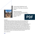 Construction Equipment and Methods Planning Innovation Safety eBook
