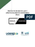 Proyecto de Reciclaje y Aprovechamiento sostenible Alcaldía de Bogotá