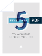 5 Things to achieve before you die