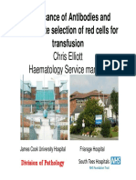 Significance of Antibodies and Appropriate Selection of Red Cells