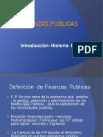 Finanzas Públicas Introducción Historia Estado