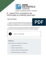 08 Layout Css Arquitetura Da Informacao e Conteudo Para Web AUTORIA WEB IMD