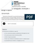 09 Pre Producao Navegacao Resolucao x Design e Layout AUTORIA WEB IMD