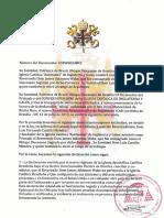 Decreto de excomunion Vera Gamboa