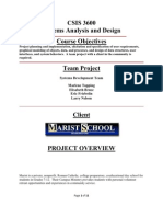 Systems Analysis and Design Example Project