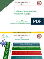 Politica Publica Del Deporte en Colombia Al 2019