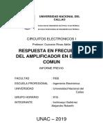 Respuesta en Frecuencia Del Amplificador en Emisor Comun