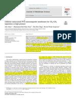 Cellulose Nanocrystal PVA Nanocomposite Membranes for CO2 CH4 Separation at High Pressure