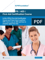 CPR AED First Aid Certification Course National CPR Foundation