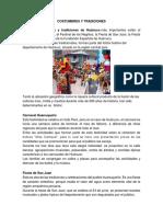 REGION HUANUCO COSTUMBRES Y TRADICIONES
