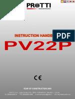 Istruzioni Pv22p english