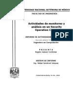 Actividades de Monitoreo y Análisis en Un Security Operation Center