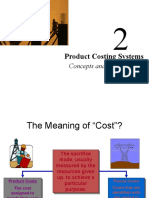 CM Ch 2 Product Costing Systems