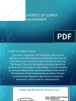 Basic Concepts of Supply Chain