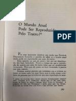 BRECHT O Mundo Atual Pode Ser Reproduzido Pelo Teatro?