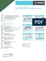 Calendario Académico Pregrado 2019-2020
