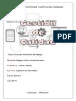 Gestion de Calidad-Contrato individual de trabajo