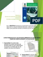 Características Estudios Ambientales