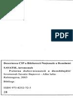 Pr. Savatie Bastovoi - Puterea Duhovniceasca a Deznadejdii -2005