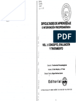 Dificultades de Aprendizaje e Intervencion PSP Vol.1