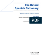 Dictionar Carte Oxford Sp-Eng