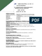Hoja de Seguridad Detergente y Desinf Para Quirofano 0021