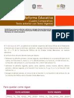 La Reforma Educativa (Cuadro Comparativo)