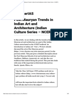 Post Mauryan Trends in Indian Art and Architecture (Indian Culture Series – NCERT)