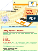 Using Python Libraries
