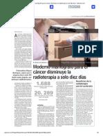 Moderno Mamógrafo Para El Cáncer Disminuye La Radioterapia a Solo Diez Días - Www.lun.Com
