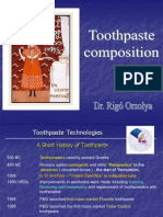 Toothpastes Compos i to In