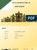 jama masjid Case Study