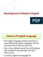 Development of Modern English